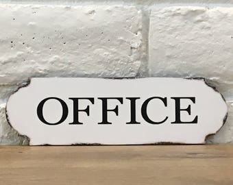 Office Sign, Wood Office Sign, Home Office Decor, Shabby Chic Office Decor,