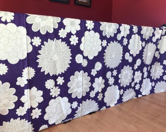 Fantastic Kleinfab original fabric in a most wonderful floral pattern.  Deep purple and white.
