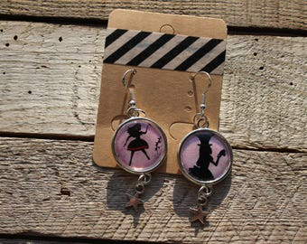 Earrings - Alice in Wonderland - gift for yourself or
