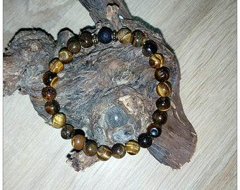 Man bracelet eye Tiger Stone