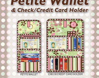 Petite Wallet and Check/Credit Card Holder Sewing Pattern