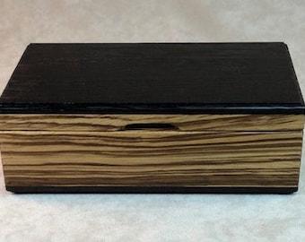 Watch Case-Eyeglass Case -Wenge & Zebrawood  - MLB 226