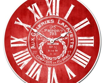 Galeries Lafayette Red Wall Clock