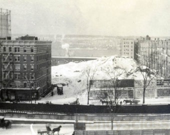 vintage photo 1913 View from 527 W 134th St Harlem New York city Hudson River