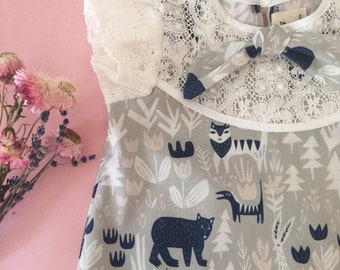 Lovely creatures organic cotton baby toddler child dress Supayana