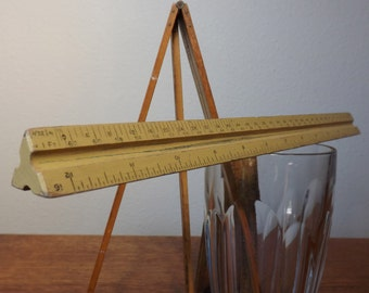 Dietzgen Triangular Engineer's Scale ~ 31626 ~ Wood Measure ~ Architect's Scale