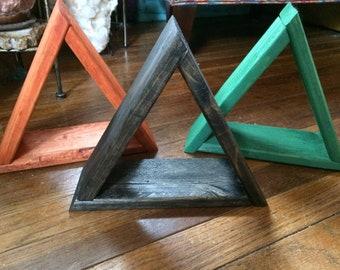 Mini handmade triangle / pyramid shelf