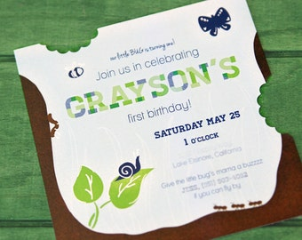 Bug Printable Invitations for BIRTHDAYS, and More