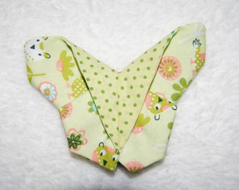Hair clip 'Butterfly' OWL motifs and peas