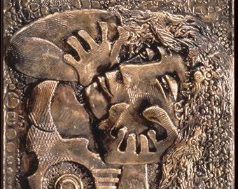 The Mystic: Teresa Moorehouse Bronze Narrative Sculpture