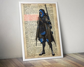 Ana Overwatch Poster Typography Dictionary Text Art Word Art Print