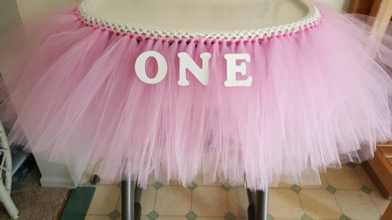 Tutu Table Skirt High Chair Tutu High Chair Banner Tulle