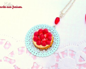Delicious Strawberry Pie necklace