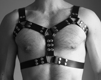 "NEW ""DOUBLE FRAME"" leather Fetish harness"