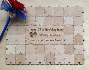 40 piece Custom Puzzle for Birthday Anniversary Graduation Party Special Occasions