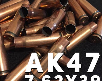 Empty Ammo AK47 Spent Shells Bullet Casings Individually Inspected Once Fired Copper Russian 7.62x39 DIY Bullet Jewelry