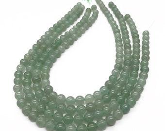 8mm Green Aventurine Beads, Round Gemstone Beads, Wholesale Beads