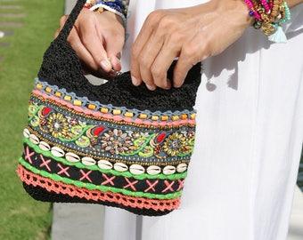 SALE!! Crochet bags/Festival bags/Crochet cross body bags/Boho crochet bag/Hippie bags * FLORINHA CROCHET B.