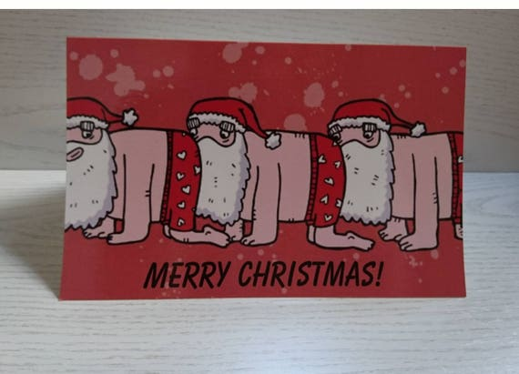 Human Santapede Christmas Card, Horror Christmas Card, Alternative Festive Card, Adult Humour, Joke Greetings Card, Funny Card For Friends