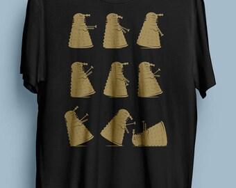 Doctor Who t-shirt Dalek Tshirt - Ministry of Silly Dalek Walks - Exterminate! Monty Python Mashup