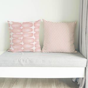 Blush Pink Pillow, Cushion, Blush pink decorative pillow cover, light pink cushion cover, throw pillow cover, euro sham, zipper