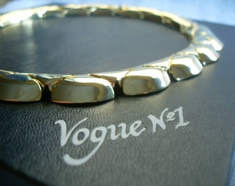 Vogue no1. necklace, 1990.1980. Gold plated.