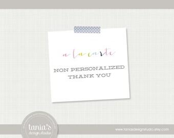 A La Carte : Printable Non Personalized Thank You Note by tania's design studio