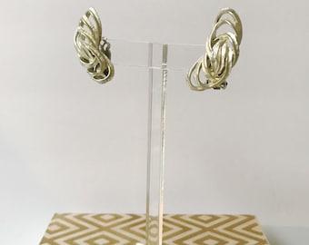 Vintage Silver Crawler 60's Earrings