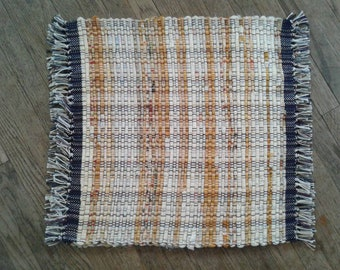 Yellow hand woven placemats