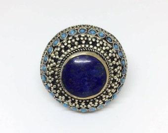 Blue Circle Ring
