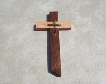 Wooden Cross with Nails