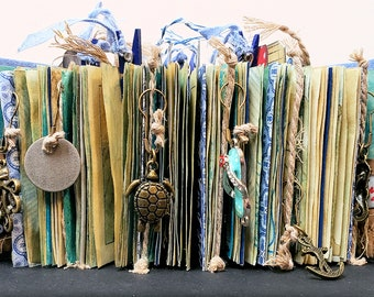 Hand Made Book Beach Theme Junk Journal Beach House Ocean Sea Decorative Nautical Decor Beach Vacation Memory Book Nautical Home Decor Gift