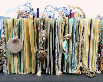 Hand Made Book Beach Theme Junk Journal Beach House Ocean Sea Decorative Nautical Decor Beach Vacation Memory Book Nautical Home Decor Gift