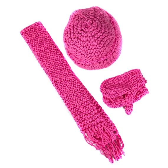 "2- and 3-piece Cotton Hat Sets for Your American Girl or Other 18"" Doll"