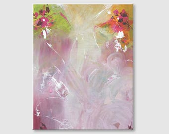 Pink painting Floral painting Floral Abstract painting Modern art Acrylic painting Wall Art Abstract Modern Wall art Pastel painting