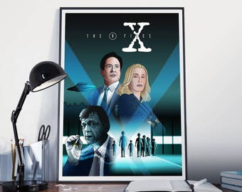 The X-Files-Inspired A4 full colour digital poster, x-files print, the x-files poster, Mulder, Scully, x-files, i want to believe, files,UFO