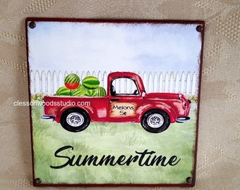 Summer Red Truck & Watermelon Block of the Month (Block Only)