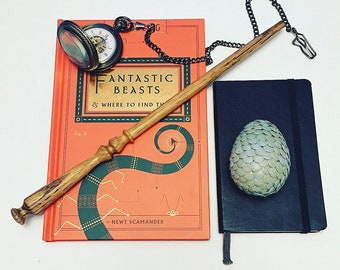 Wand No. 018 Oak 12 1/4 inches w/ thunderbird tail feather core- Harry Potter inspired magic wand.