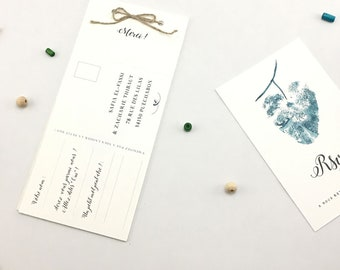 VEGETABLE •• stationery fasion wedding response card.