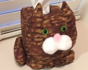 Brown Tabby Cat Tissue Box Cover FREE SHIPPING
