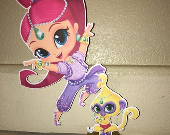 Shimmer and shine centerpieces, table decorations, Party, birthday Party, party decorations, events