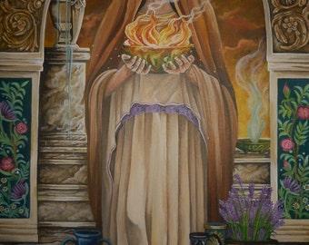 """A4 """"Goddess Hestia/Vesta""""  Print"""