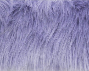 Lavender Luxury Shag Faux Fur Fabric