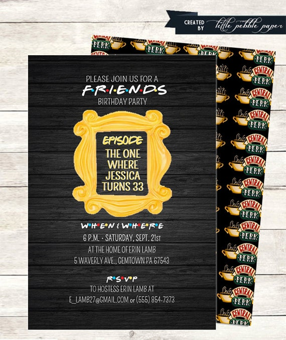 Friends tv show invitation friends party birthday party friends tv show invitation friends party birthday party bridal shower invite baby shower friends tv show theme friends party printable stopboris Choice Image