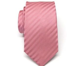 Mens Tie. Skinny Tie. Dusty Rose. Dusty Pink Skinny Necktie