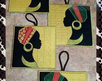 Pot Holders mud rug  Trivets Cotton Trivets Hot Pads Trivets  kitchen a tack Africa - the embroidery machine Templates design