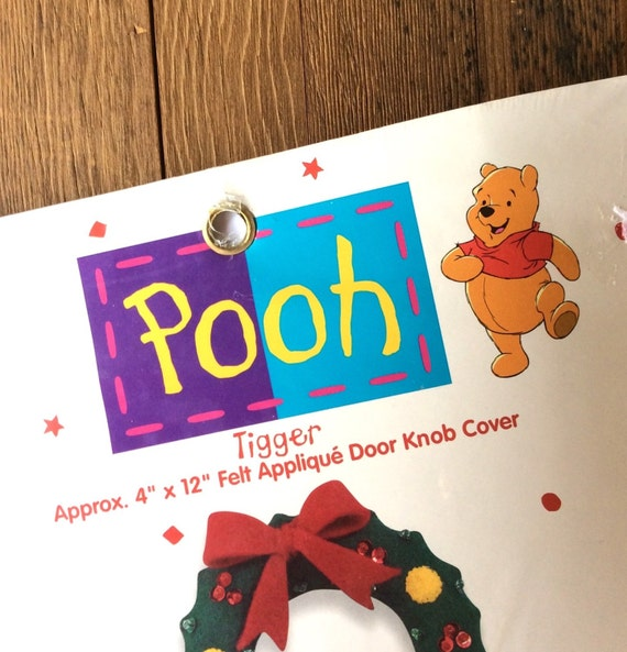 Winnie the Pooh Applique Door Knob Cover with Tigger holding a ...