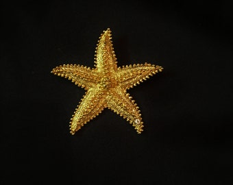 Star Fish Gold Plated Brooch