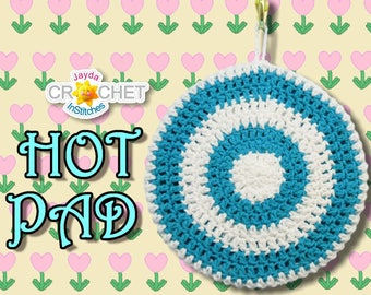 Hot Pad / Pot Holder Crochet Pattern PDF - Double Thickness, Vintage-Inspired