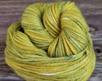 Hand Dyed Yarn, Yellow, Green, Cashmere, Wool, Nylon, Indie Dyer, Knit, Crochet, Weave, Sport,